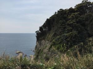 江ノ島(断崖絶壁4月)